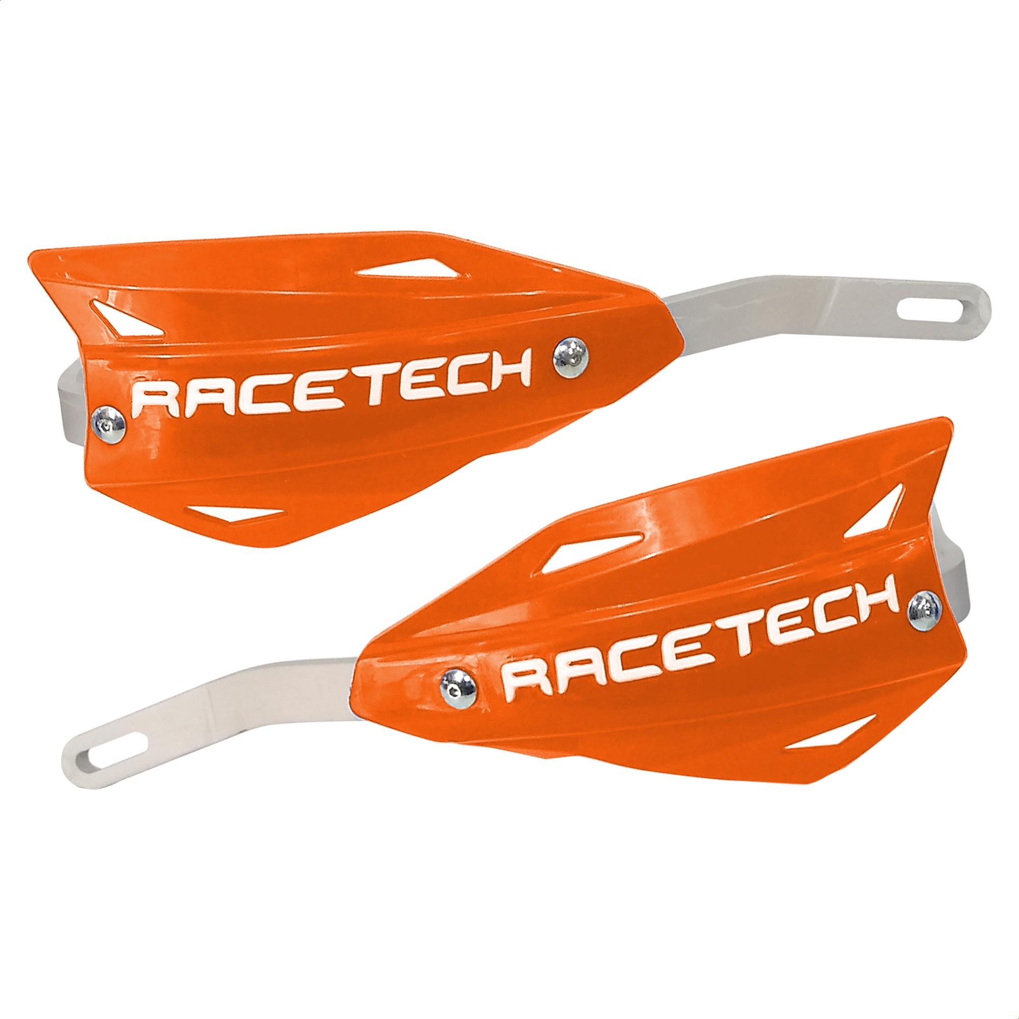 Cubre Manos Puños Moto Racetech Vertigo Naranja Aluminio Un